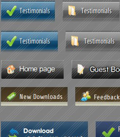 Css Horizontal Vertical Menu Downlaod Photoshop Aqua Button