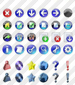 Collapse Style Menu Web2 Button Design