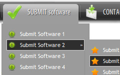 form submit button in html Vertical Menu Submenus