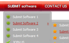 web 20 drop menu buttons How To Code Web Menu With Tabs
