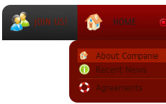 Sliding Menu Css Alway Visible Tab Sample Buttons