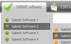 theme xp button Html Sub Menu Code Sample