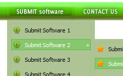 create vista button online Menu Template Ie