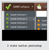 3 State Button Photoshop