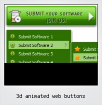 3d Animated Web Buttons