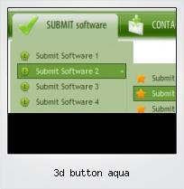 3d Button Aqua