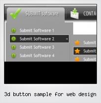 3d Button Sample For Web Design