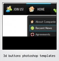 3d Buttons Photoshop Templates