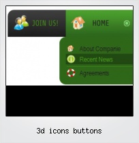 3d Icons Buttons