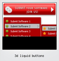 3d Liquid Buttons