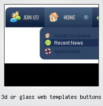 3d Or Glass Web Templates Buttons