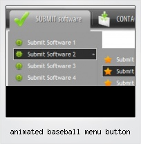 Animated Baseball Menu Button