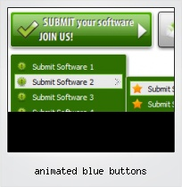 Animated Blue Buttons