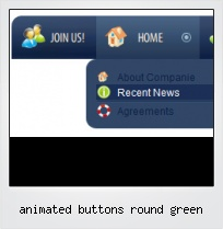 Animated Buttons Round Green