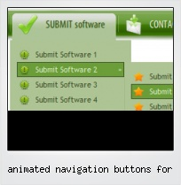 Animated Navigation Buttons For