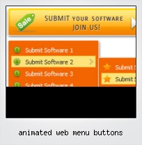 Animated Web Menu Buttons