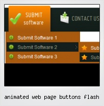Animated Web Page Buttons Flash