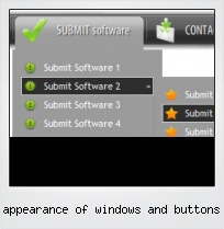 Appearance Of Windows And Buttons