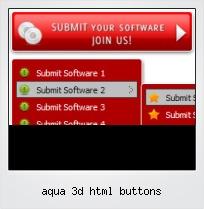 Aqua 3d Html Buttons