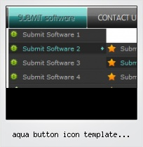 Aqua Button Icon Template Photoshop
