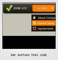 Bar Buttons Html Code