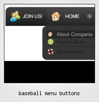 Baseball Menu Buttons