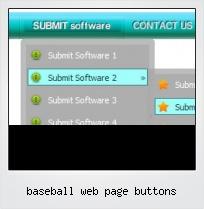 Baseball Web Page Buttons