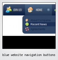 Blue Website Navigation Buttons