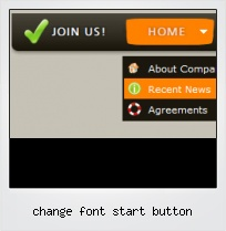 Change Font Start Button