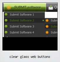 Clear Glass Web Buttons