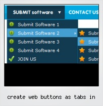 Create Web Buttons As Tabs In