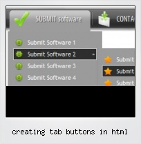 Creating Tab Buttons In Html