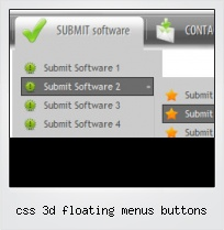 Css 3d Floating Menus Buttons