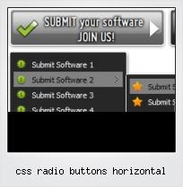 Css Radio Buttons Horizontal