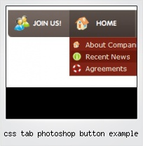 Css Tab Photoshop Button Example