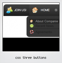 Css Three Buttons