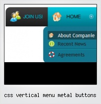 Css Vertical Menu Metal Buttons