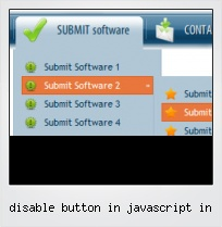 Disable Button In Javascript In