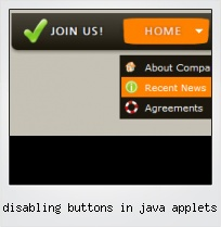 Disabling Buttons In Java Applets
