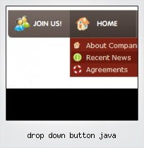Drop Down Button Java