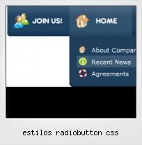 Estilos Radiobutton Css
