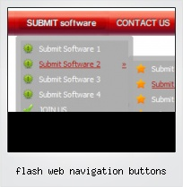 Flash Web Navigation Buttons