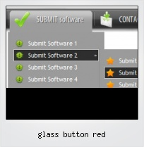 Glass Button Red