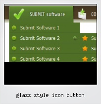 Glass Style Icon Button