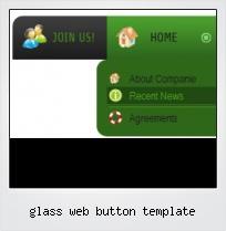 Glass Web Button Template