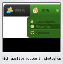 High Quality Button In Photoshop