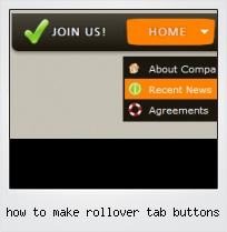 How To Make Rollover Tab Buttons