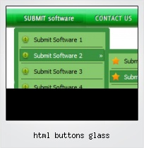 Html Buttons Glass