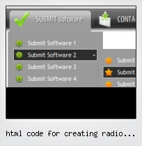 Html Code For Creating Radio Buttons