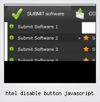Html Disable Button Javascript